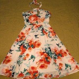Charles Henry Halter Top Floral Dress